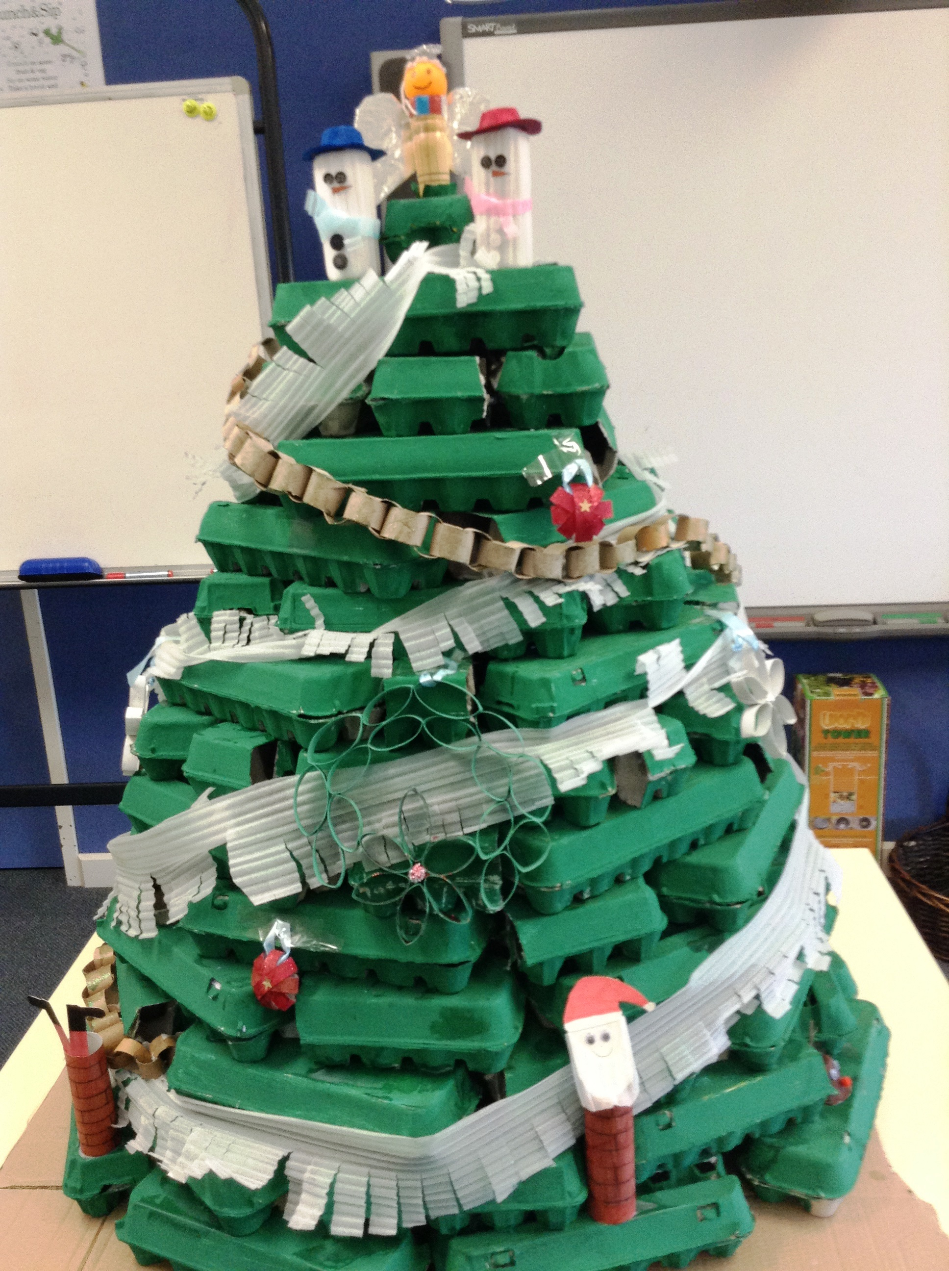 Christmas Tree Using Recycled Materials.Recycled Christmas Tree Challenge Warnervale Public School